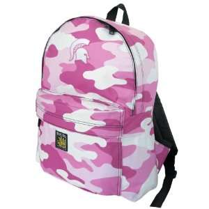 MSU Michigan State University Spartans Pink Camo Backpack by Broad Bay