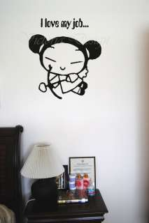WALL DECORATION ART MURAL VINYL PICTURE LETTER PUCCA
