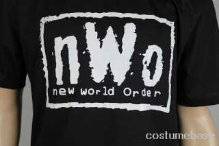 NWO NEW WORLD ORDER T Shirt WRESTLING VINTAGE WCW MENS Black Shirt 100