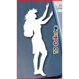 Hula Dancer Hawaiian Car Window Vinyl Decal Sticker 5 Tall (Color