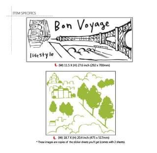 PARIS EIFFEL TOWER Home decor Wall Sticker Vinyl Decals