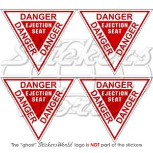 DANGER Ejection Seat USAF Martin Baker Sticker Decal x4
