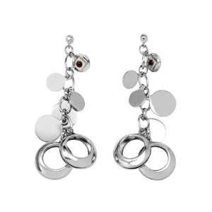 ELLE Jewelry Sterling Silver Dangle Cluster Earring