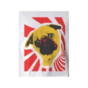 Pug Dog   Pop Art Graphic T shirt (Mens Medium)