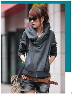 Preppy Look Fashionable Casual Long Sleeve Pure Color Cotton Sweaters