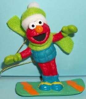 Sesame Street Ornament   Elmo on Snowboard