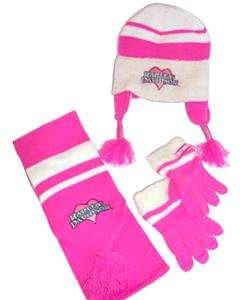 Harley Davidson Girls 4 pc Scarf Gloves Hat Cap Apparel Outer Wear Set