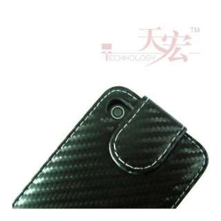 Flip Leather Case Cover Pouch For Iphone 4 4G Black