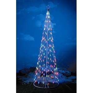 Prelit Christmas Tree W Star, 61397, Multi color LED Outdoor Home