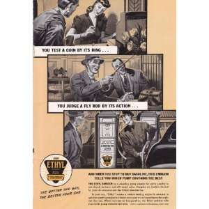 1941 Ad Ethyl Gasoline Gas Station Pump has the Best Original Vintage