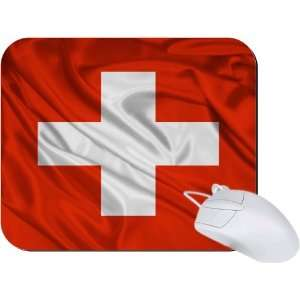 Rikki Knight Switzerland Flag Mouse Pad Mousepad   Ideal Gift for all
