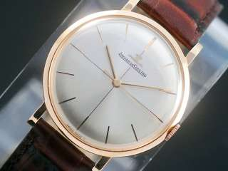 Jaeger LeCoultre 18K Solid Pink Gold Vintage Mens Watch!