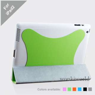 iPad 2 Slim Magnetic Smart Cover with Hard Case 2 Tone