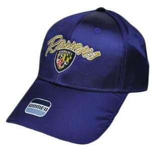NFL Baltimore Ravens Satin Dark Purple Yellow Rhinestones