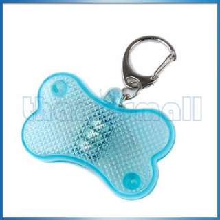 Pet Dog Puppy Cat Flashing LED Light Collar Charm Tag