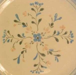FASCINO STONEWARE SALAD PLATE Pink Blue Flowers YAMAKA