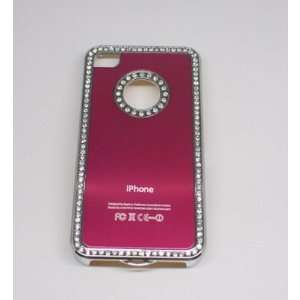Crystal Bling Hard Case for Apple iPhone 4 4s hot pink Electronics