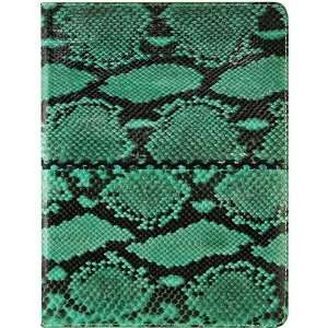 Python Snake Leather iPad 2 Folding Case   Green Home & Kitchen