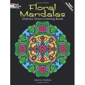 Floral Mandalas Stained Glass Coloring Book (Dover Design