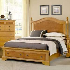 Alexander Julians Home Poster Storage Bed (Pine & Cherry