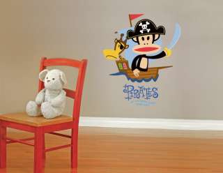 Paul Frank Julius Monkey Pirate Captain Wall Sticker Decal Wallpaper