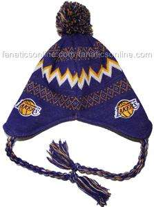LA Los Angeles Lakers Baby Newborn Rope Knit Beanie Hat