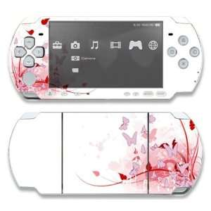 Sony PSP 1000 Decal Skin   Pink Butterfly Fantasy