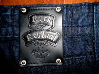 Mens Buckle Rock Revival Dark Wash Phil Slim Straight Leg Jeans NEW