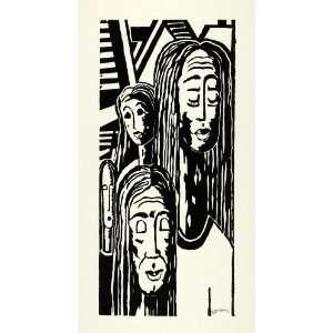 1967 Woodcut Black Americana African American Artist