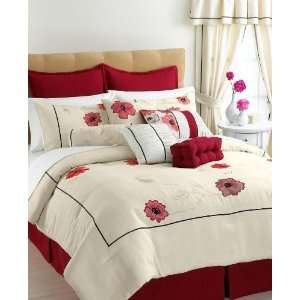 Vida by Eva Mendes Penelope 4 piece Queen Comforter Set