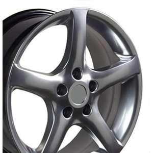 05 Style Wheels Fits Nissan   Hyper Black 17x7 Set of 4 Automotive