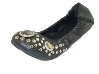 Black Designer Rhinestone Flat Shoes Ballet Fashion Lady Size
