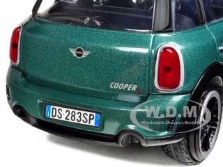MINI COOPER S COUNTRYMAN OXFORD GREEN 1/24 DIECAST MODEL CAR BY