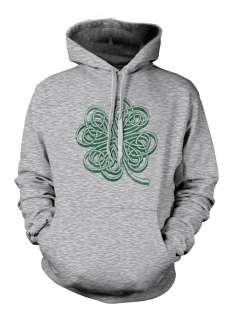 Four Leaf Clover Sweatshirt Hoodie Graphic Funny Irish Lucky Green