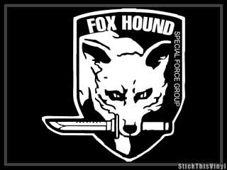 Metal Gear Solid Fox Hound Logo Game Decal Sticker (2x)