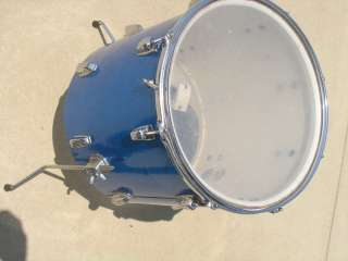 Vintage Ludwig 1965 1966 Drum Set sparkle blue Bass Drum Floor Tom
