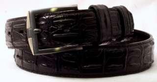 Mens ALLIGATOR / CROC PRINT Genuine Leather BELT Avail. in BLACK BROWN