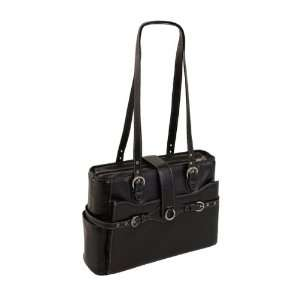 Siamod Fratti Leather 15.4 Laptop Tote   Black