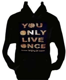 DRAKE/LIL WAYNE~YOLO YOU ONLY LIVE ONCE~YMCMB~MENS/WOMENS HOODIE SIZE