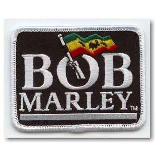 Bob MARLEY FLAG LOGO Iron On Patch: Clothing