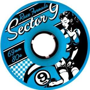 Sector 9 Race Formula 69mm 80a Skateboard Wheels w/ Free B
