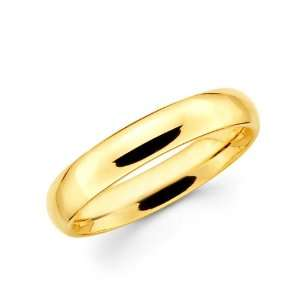 Fit wedding Band Ring Plain style 4 mm Jewelers Mart Jewelry