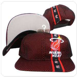NBA Miami Heat red black mesh over grey under visor vintage baseball