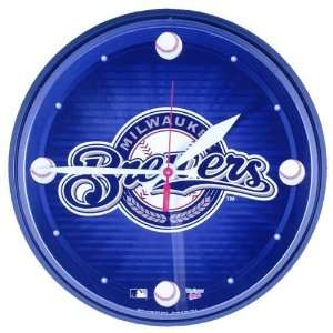 Milwaukee Brewers   Logo Wall Clock: Home & Kitchen