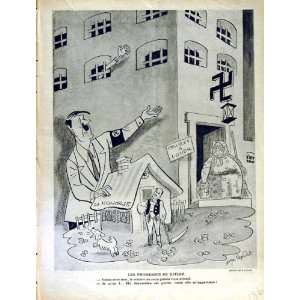 LE RIRE FRENCH HUMOR MAGAZINE WAR HITLER COMEDY LOUER