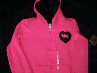 PINK *2011* FASHION SHOW FAUX FUR HOODIE JACKET **MEDIUM**