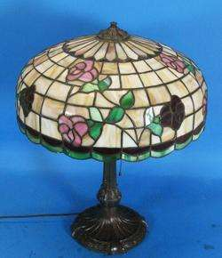 Large 18 Chicago Mosaic Art Nouveau Stained Glass Lamp