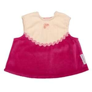 Baby Chaleco Frock Vanilla/Hot Pink   Infant: Baby