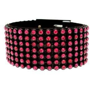 Acosta Jewellery   Fuchsia Pink Crystal Fashion Bracelet