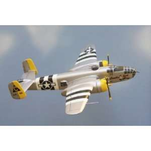 B 25J Mitchell (Yellow) North American Model Airplane
